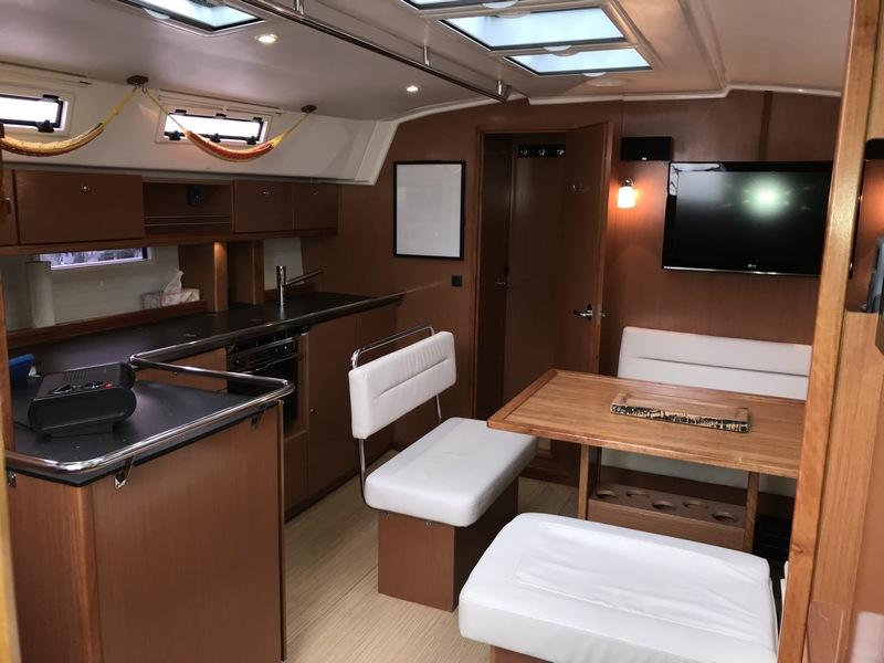 -Audrey Rose, Bavaria 45 - galley & salon resize.jpg