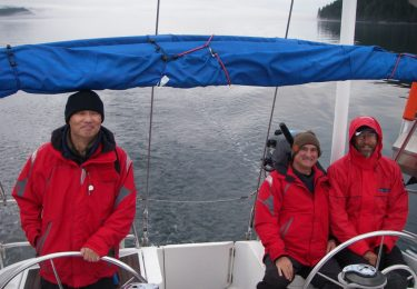 Yachting in heavy weather in Vancouver