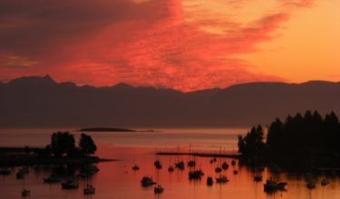 nanaimo harbour sunset