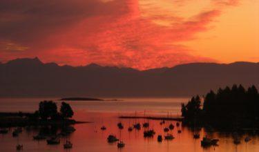 nanaimo harbour sunset