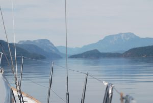 What experience do I need for sailing in British Columbia