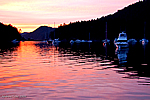 Sunset. - Vancouver Yacht, Nanaimo Yacht Charters