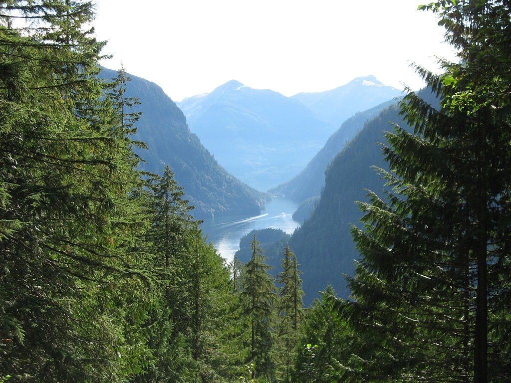Charter places to visit on a bareboat yacht charter - Princess Louisa Inlet