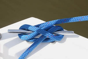 This knot secures boats to the cleat when docked.