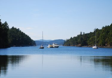 Gorge Harbour lies at the entrance of Desolation Sound.