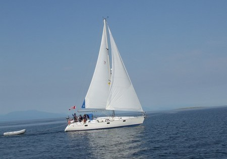 The comfortable sailing Beneteau 40 Yacht Rental with full accommodations. I