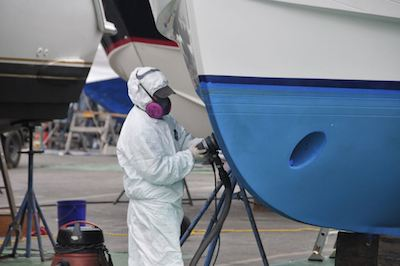 The annual anti-fouling of your yacht is a very important winter maintenance job.