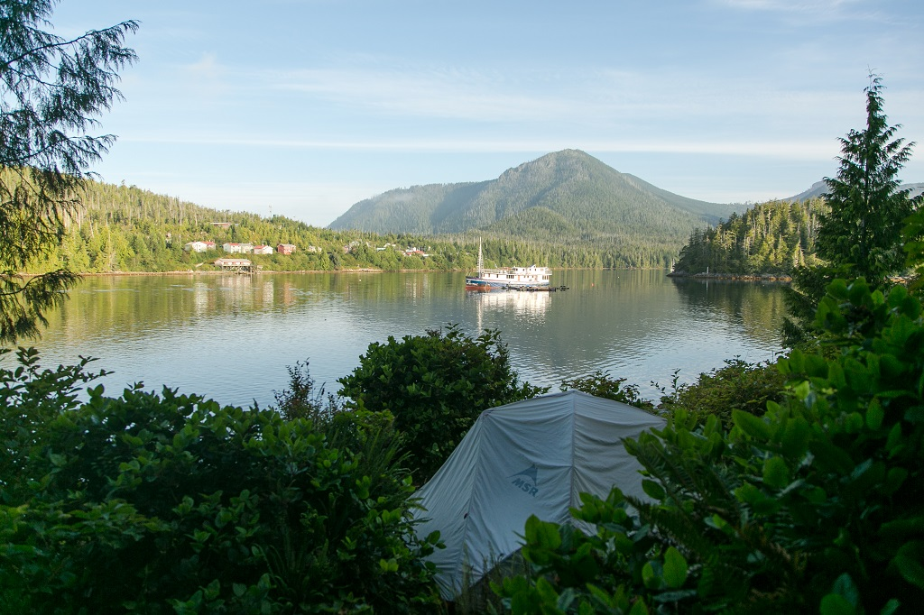 Yacht charter adventure through the rain forest to Hot Springs Cove.