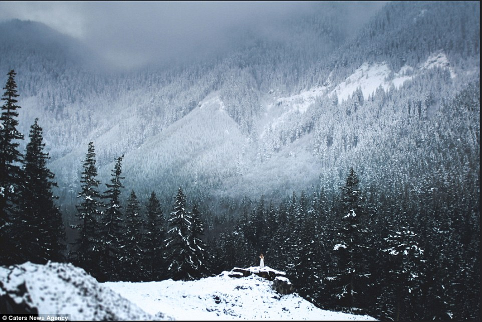 Mountains tipped with snow